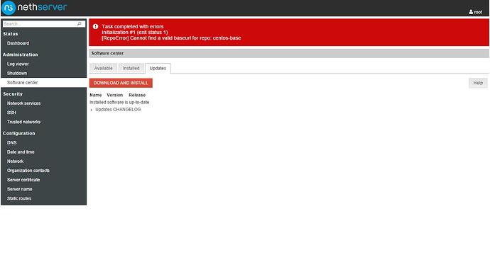 Error YumRepo Error: - Support - NethServer Community