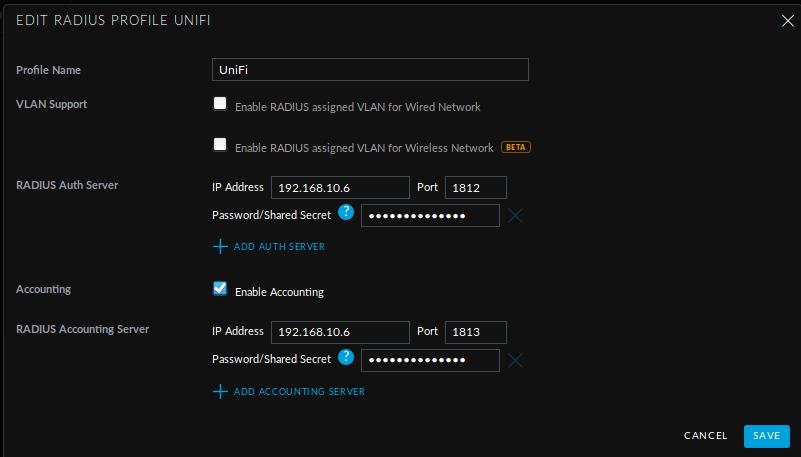 Nethserver-freeradius integration module - Feature