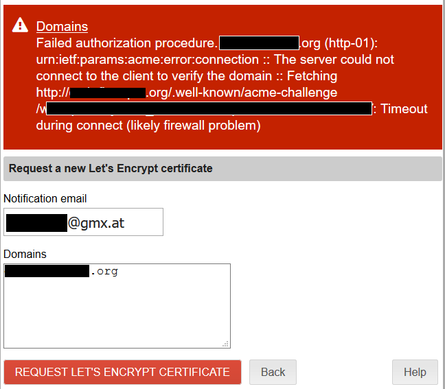 Request Let's Encrypt Certificate? - Support - NethServer Community