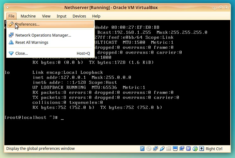 How-To: Create a NethServer instance in VirtualBox machine