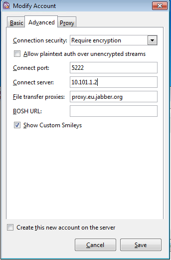 How do you setup a chat client to use nethserver? - Support
