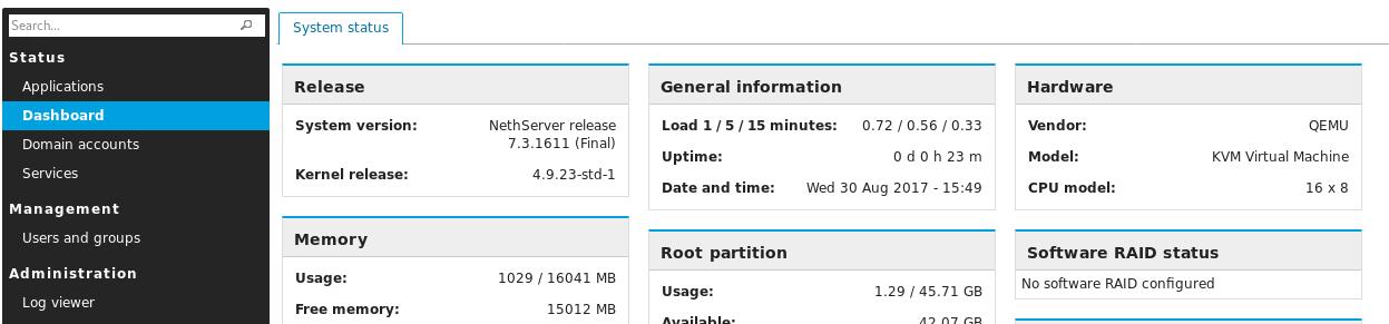 Nethserver 7 arm update - Testing - NethServer Community
