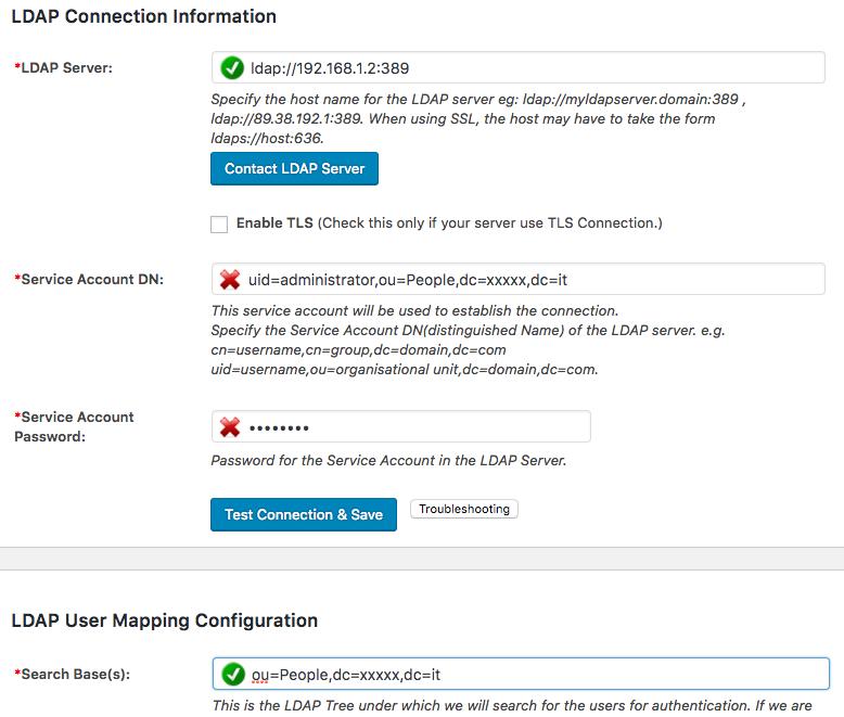 LDAP NS - Erpnext - Wordpress with SSO - Support