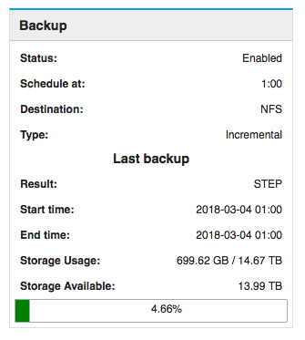"""Data backup - what does """"STEP"""" result mean? - Support - NethServer Community"""