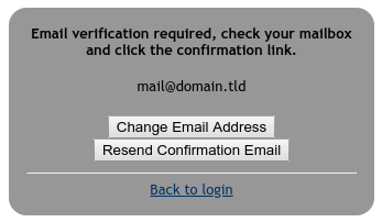 meshcentral - login of preexisting user with unverified email