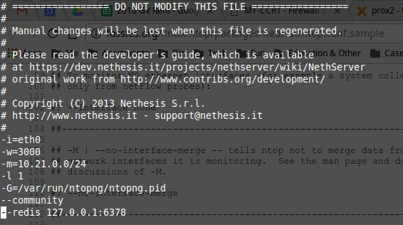 Is there a way to modify local subnets in ntop for NethServer