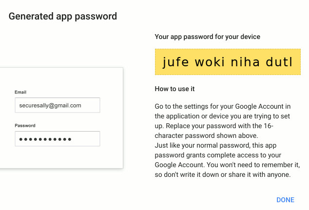gmail-generated-app-password