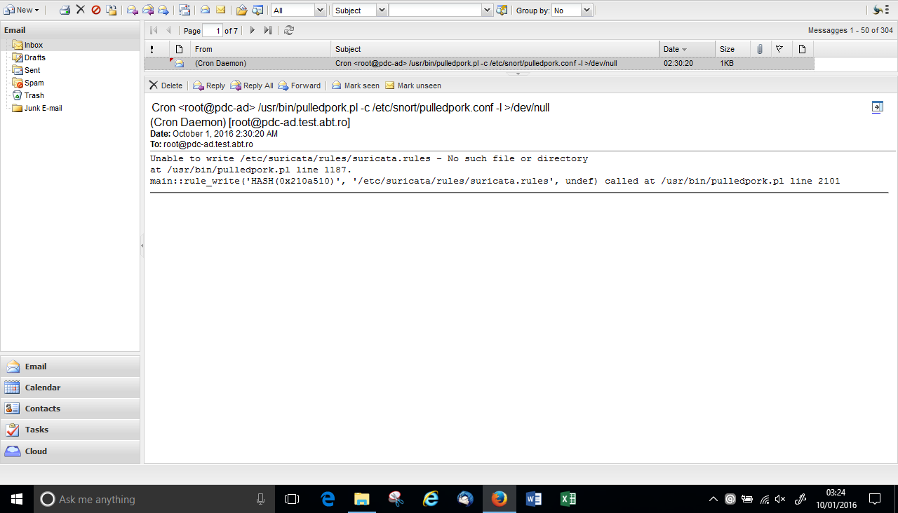SOLVED] Suricata - Cron Daemon Error - Bug - NethServer Community