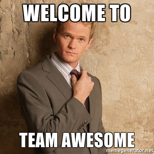 welcome-to-team-awesome-meme