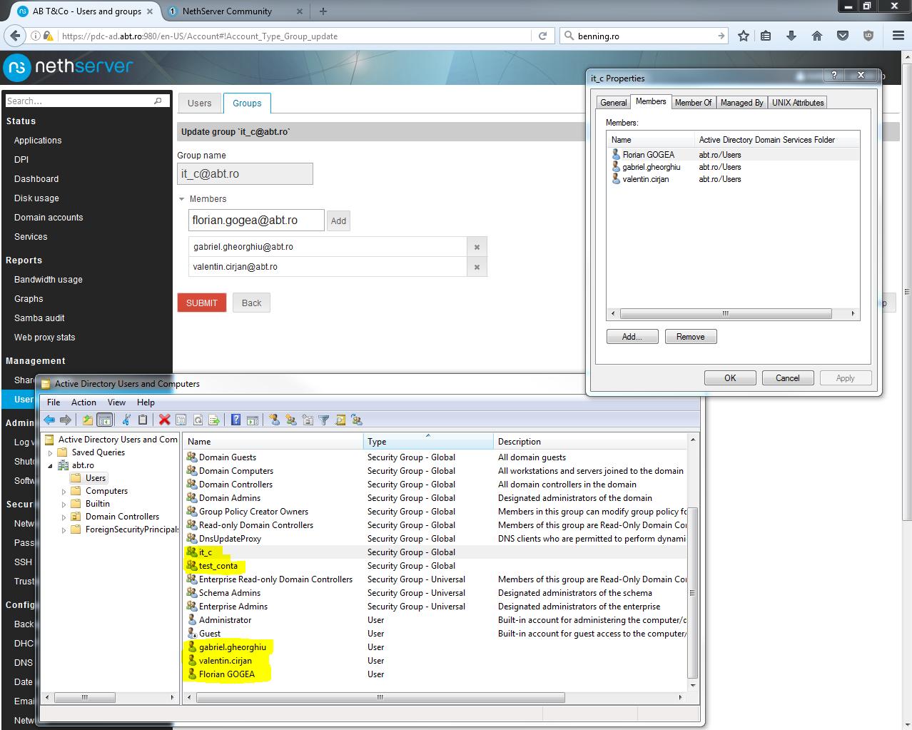 NS Samba AD - RSAT Windows 7 - Feature - NethServer Community