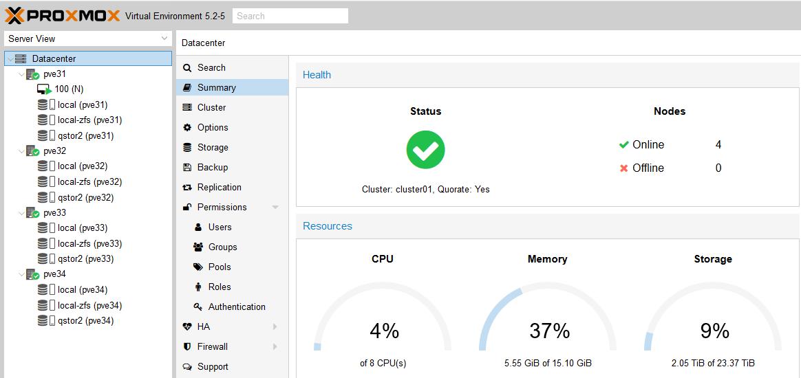 Install NethServer 7 5 on ProxMox (5 2) - Howto - NethServer