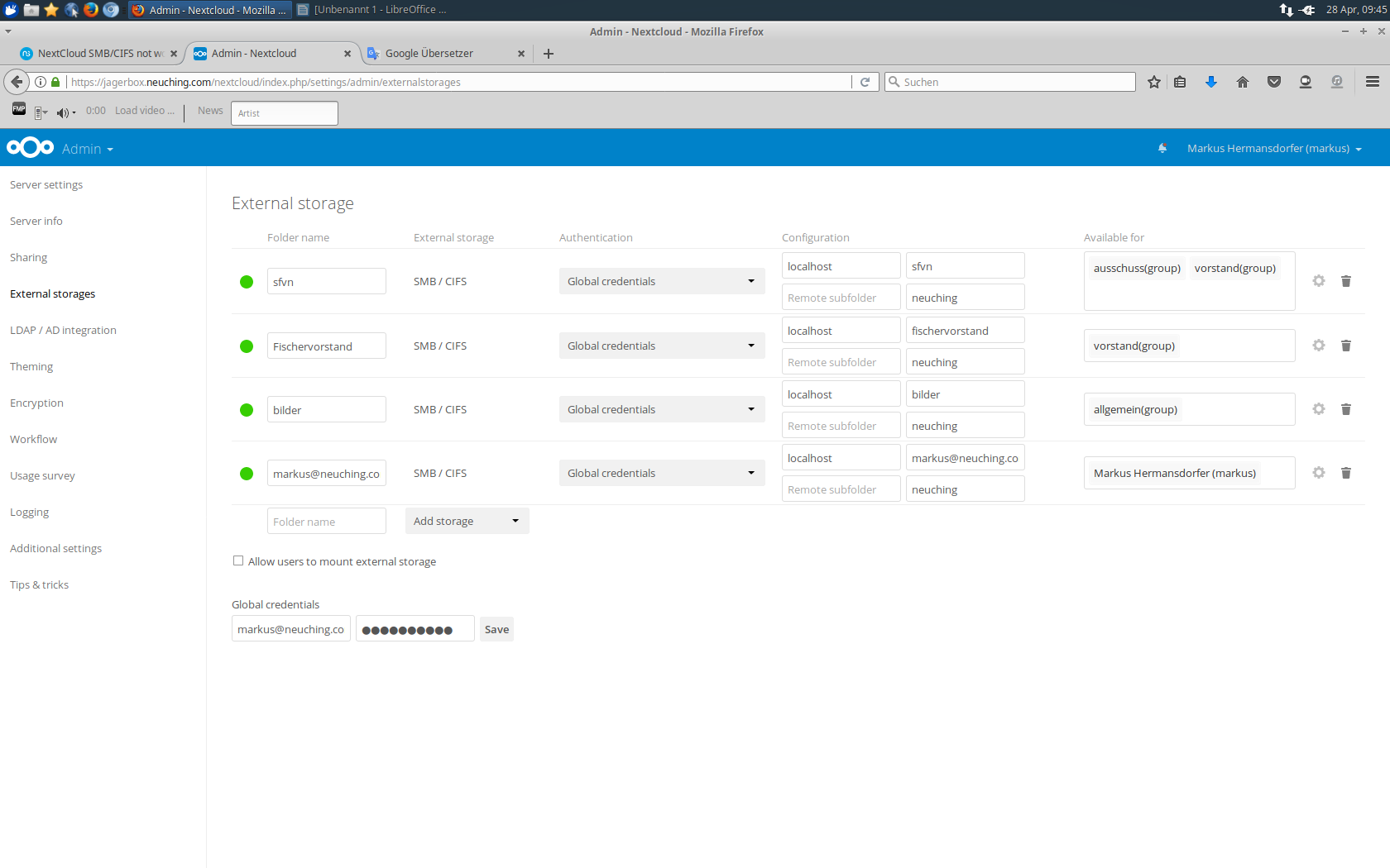 NextCloud SMB/CIFS not working - Bug - NethServer Community